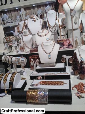 Pretty white jewelry booth