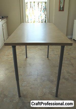 Adjustable craft table using IKEA legs