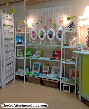 Bright craft booth