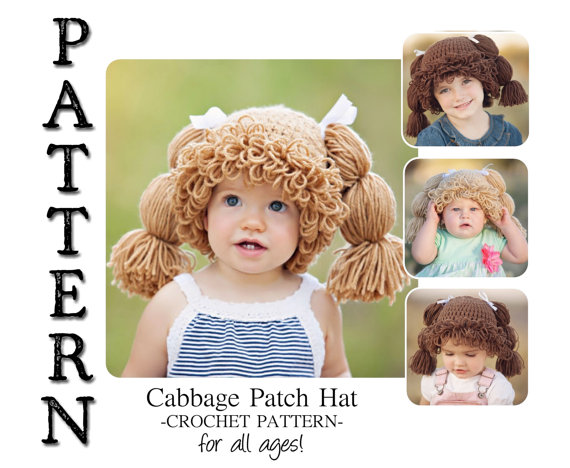 Cabbage Patch Doll hat pattern by Burley Beardco