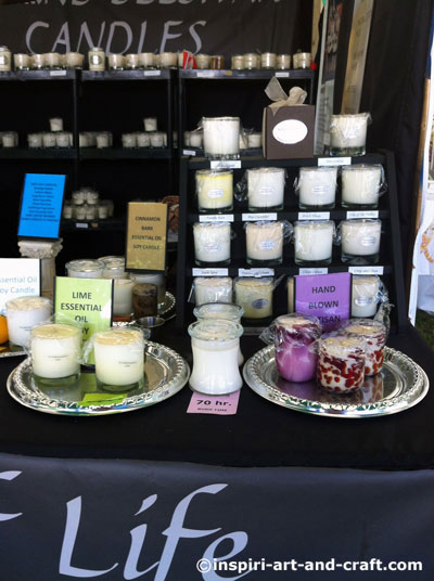 candle display ideas for your craft booth
