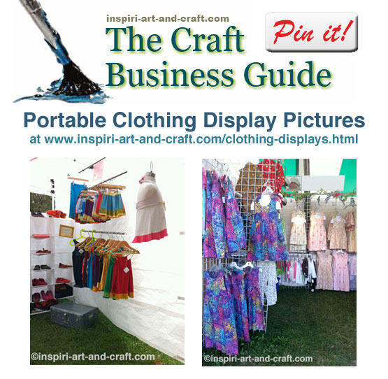 Lots of portable clothing display ideas and pictures