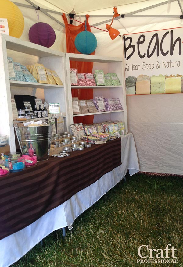 Handmade soap booth