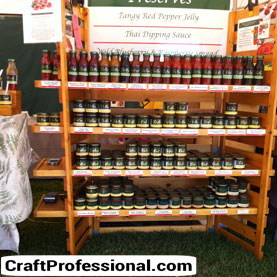 Dips and sauces display