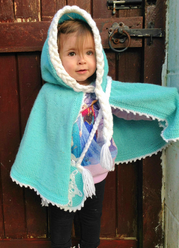 Frozen Elsa inspired cape knitting pattern from Dolly May Designs