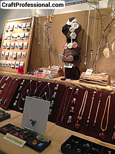 Pretty jewelry booth