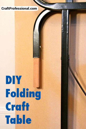 How to make a DIY folding craft table.