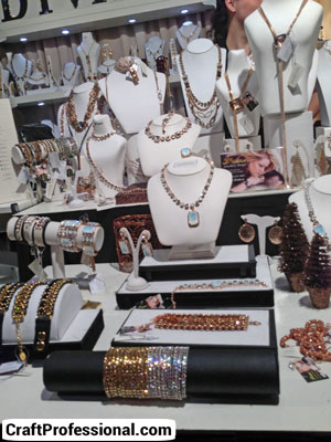 Pretty white jewelry booth
