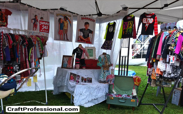kids' clothing booth