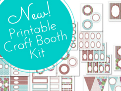 New printable craft booth kit