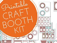 New printable craft booth kit