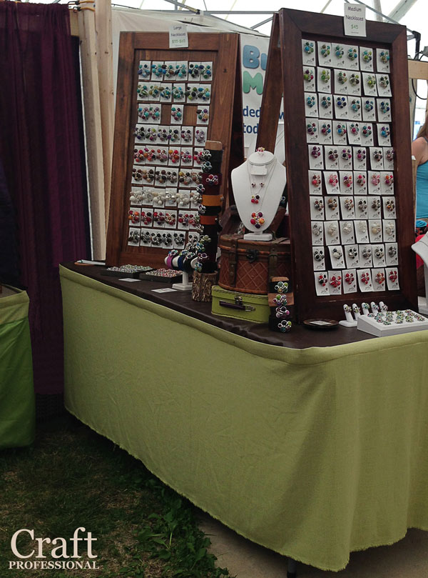 Jewelry displays for craft fairs for Display necklaces craft fair