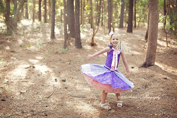 Princess dress sewing pattern by Tenderfeet Stitches