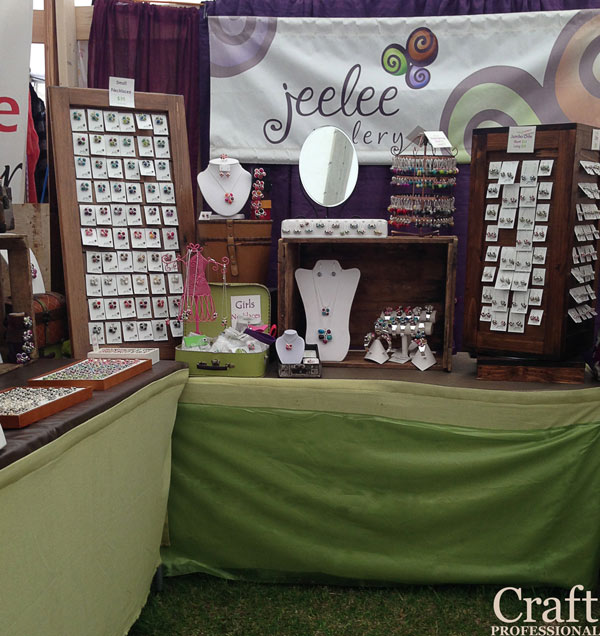 Jewelry displays for craft fairs for Craft show jewelry display