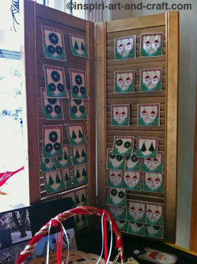 Christmas Earring Display