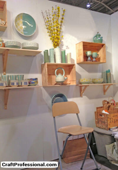 Simple and pretty craft booth