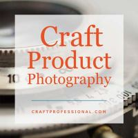 Camera lens with text overlay - Craft Product Photography