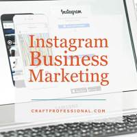 Computer screen with text overlay Instagram Business Marketing
