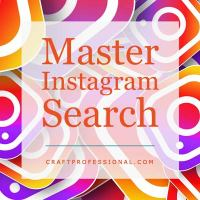 Instagram logo with text overlay Master Instagram Search