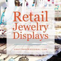 Handmade jewelry display with text overlay Retail Jewelry Displays