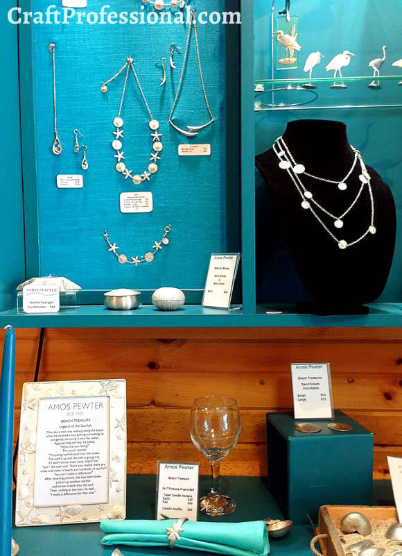 Gorgeous handmade souvenirs at Amos pewter
