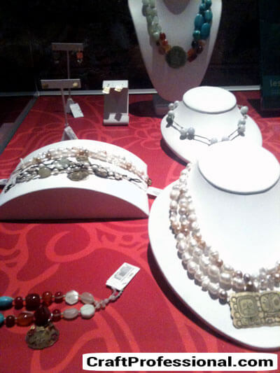Museum necklace display