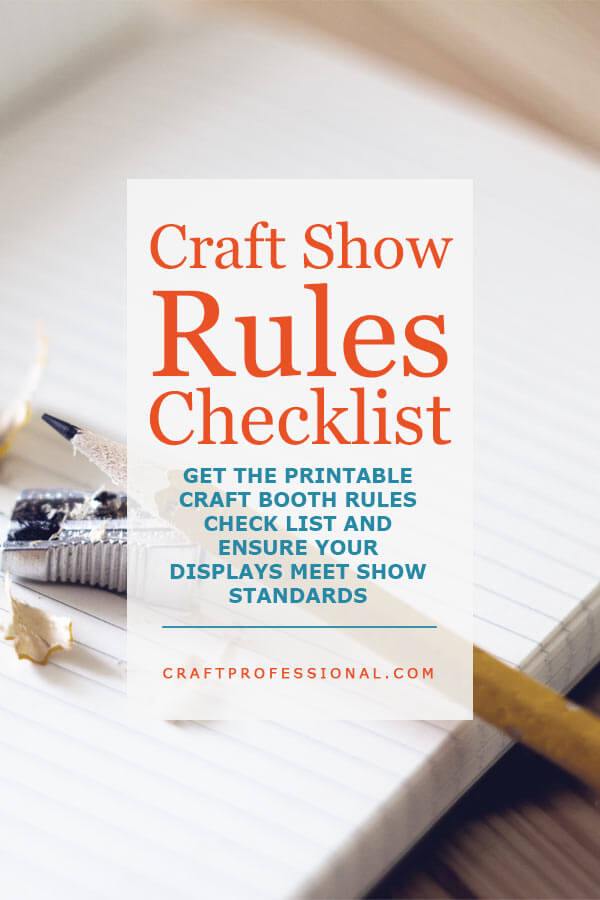 Craft Show Rules Checklist