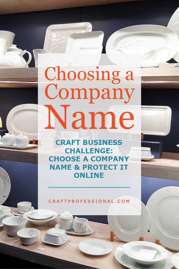 Choosing a Company Name - Text overlay