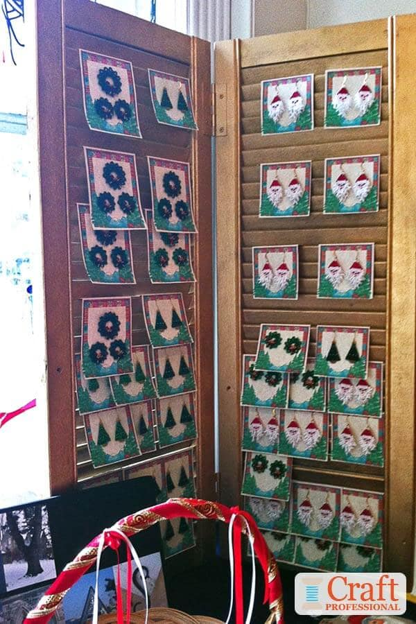 Christmas Earring Display