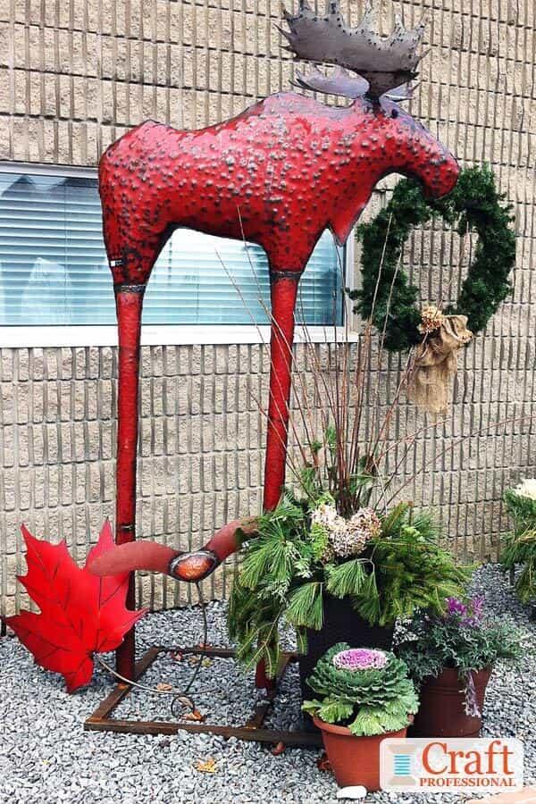 Handmade metal moose