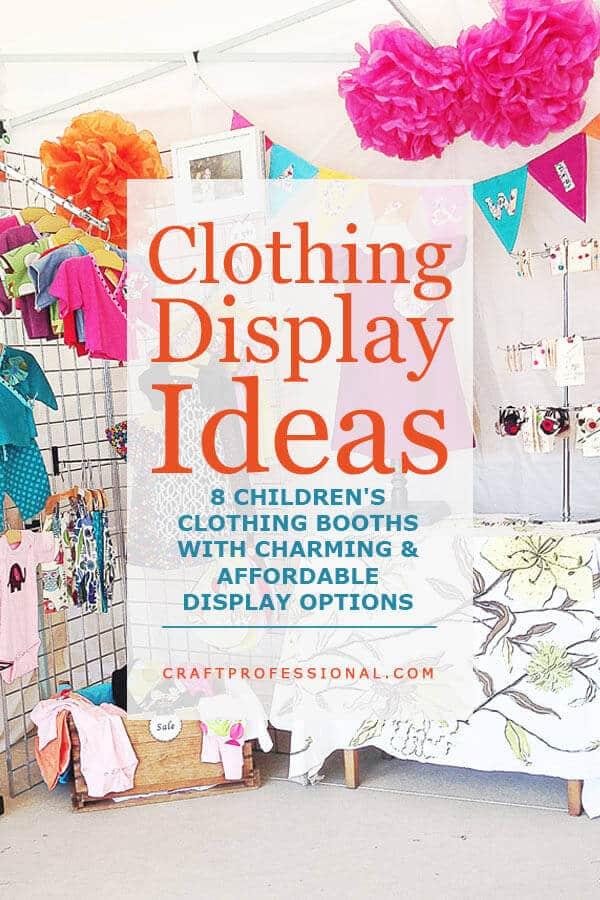 Handmade Clothing Display Ideas