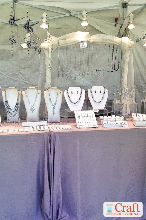 Craft Show Booth Setup