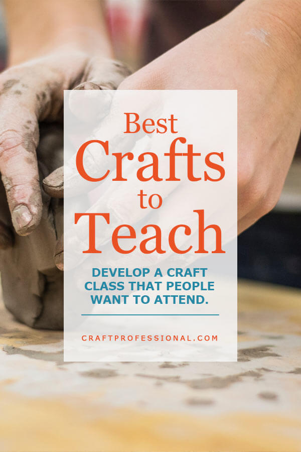 Hands sculpting pottery with text overlay - Best Crafts to Teach