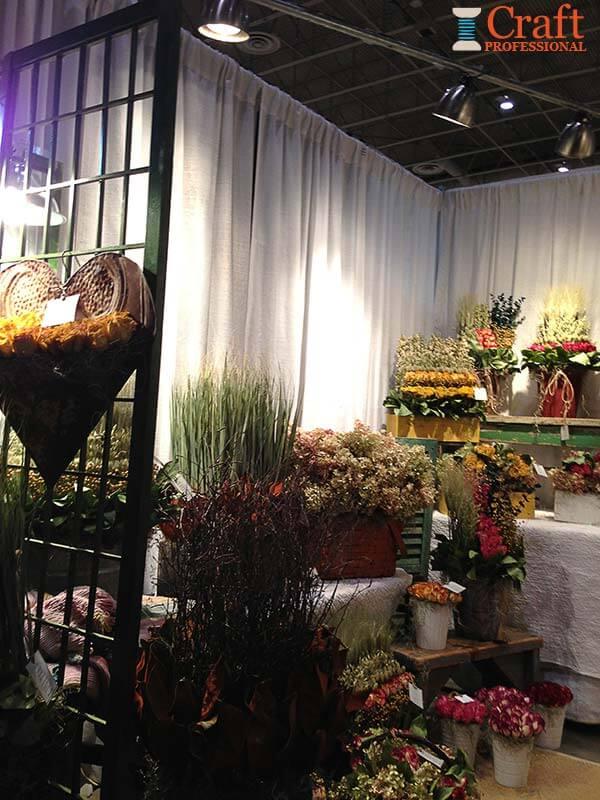 silk flower display