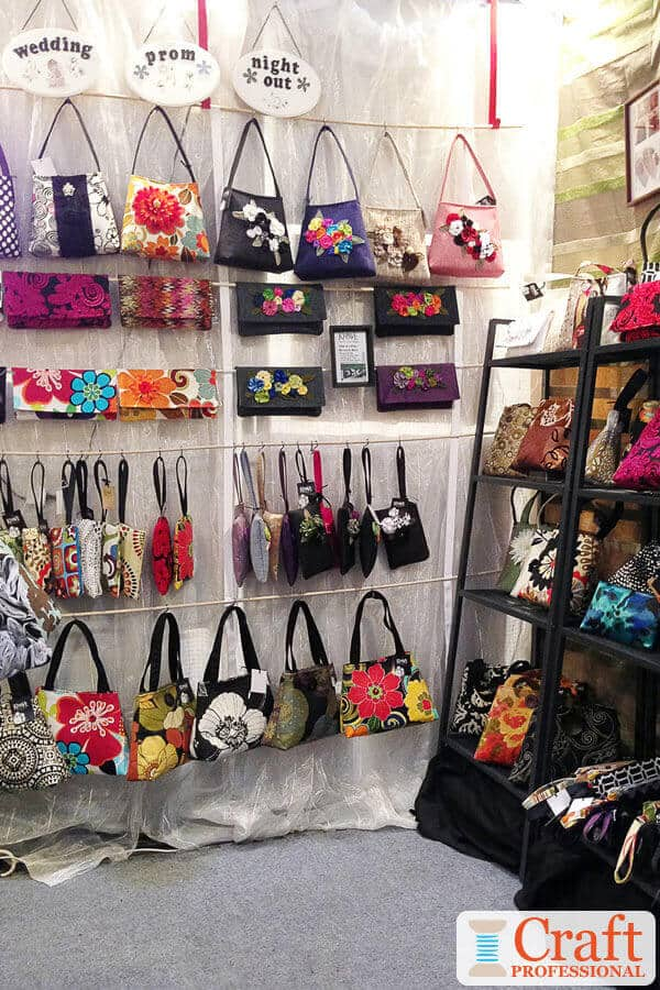 Handmade Purses at a Craft Fair