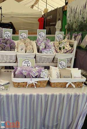 Handmade lavender products.