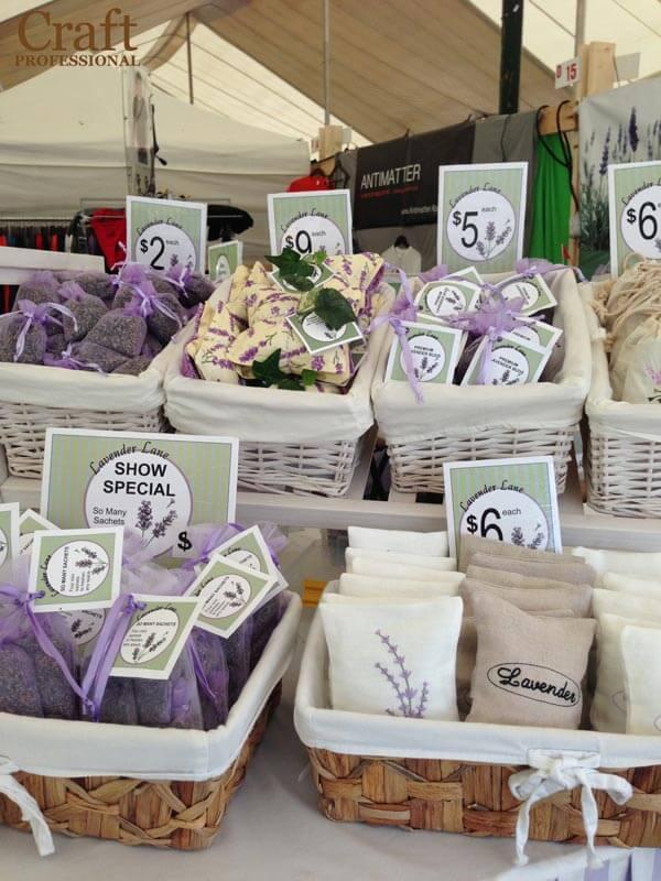 Handmade lavender in pretty packaging