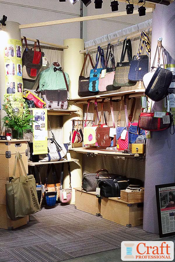 Handmade Tote Bag Display