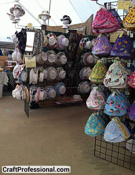 Gridwall hat display booth