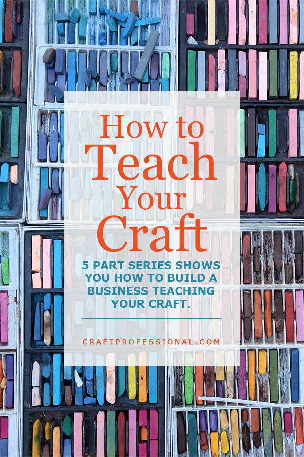 Pastel chalk with text overlay - How to Teach Your Craft