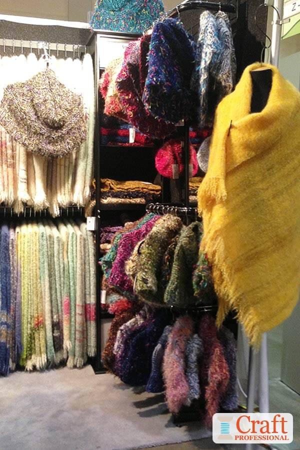 Lovely shawl display