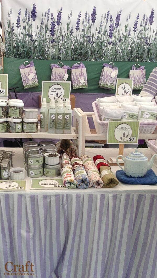Pretty lavender booth backdrop