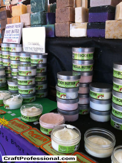 Body butter and soap booth