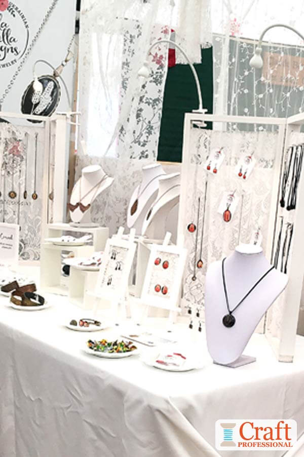 White Jewelry Booth