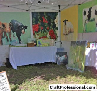 Craft booth with table