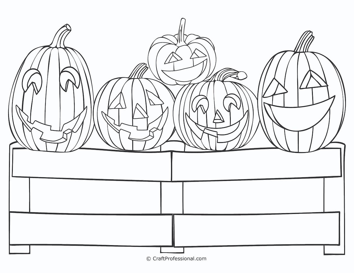 Pumpkin Coloring Pages For Adults Kids