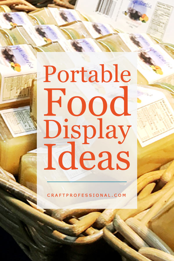 Jars of honey with text overlay portable food display ideas