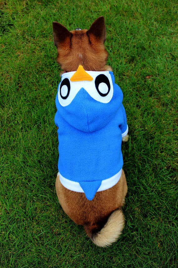 Penguin hoodie pattern for your dog by Aprikot Clothing