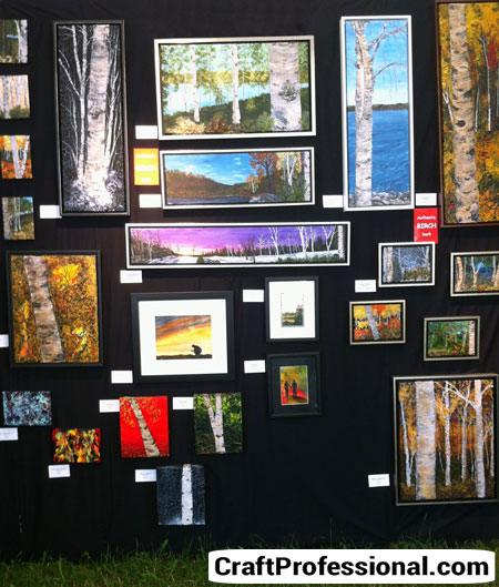 Photos Of Art Show Displays