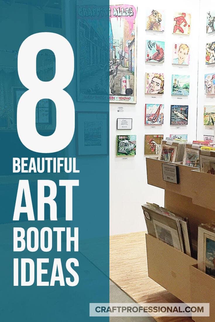 8 beautiful art booth ideas